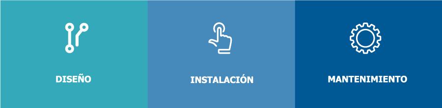 Diseño, instalación y mantenimiento